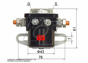 ford solenoid switch AM-134 on